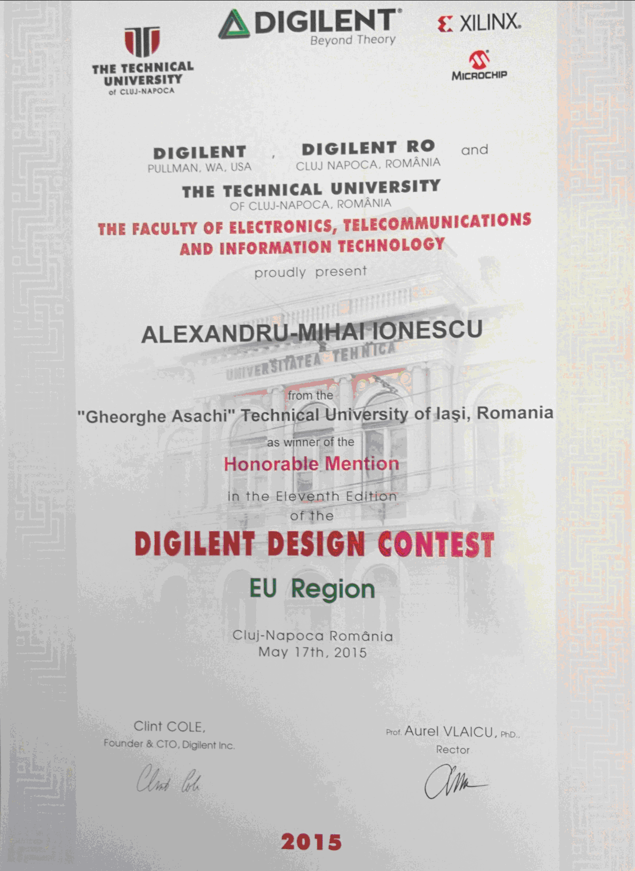 Honorable MentionDigilent2015